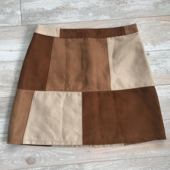 27db24f2b Hollister Skirts | Suede Patch Skirt | Poshmark